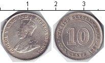 Изображение Мелочь Стрейтс-Сеттльмент 10 центов 1927 Серебро XF