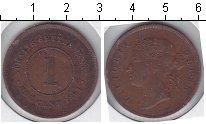 Изображение Монеты Стрейтс-Сеттльмент 1 цент 1891 Медь VF Виктория