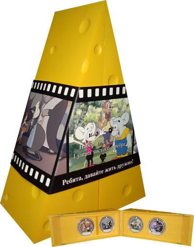 Изображение Подарочные наборы Острова Кука Сказочный сыр 2008 Серебро Proof