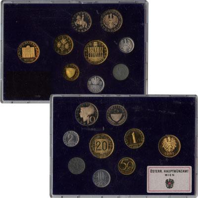 Изображение Подарочные монеты Австрия Набор монет 1981 года 1981  Proof Выпуск монет 1981 го