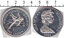 Изображение Монеты Остров Мэн 1 крона 1984 Серебро Proof- Зимние олимпийские и