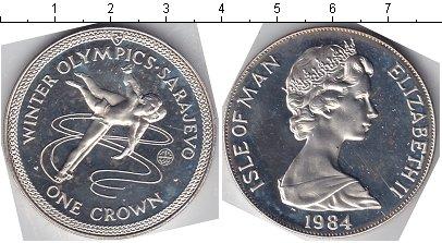Картинка Монеты Остров Мэн 1 крона Серебро 1984