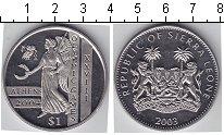Изображение Мелочь Сьерра-Леоне 1 доллар 2003 Медно-никель UNC