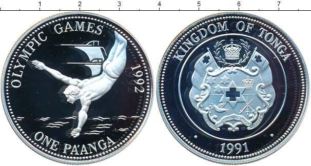Картинка Монеты Тонга 1 паанга Серебро 1991