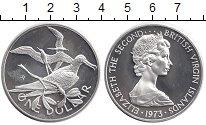 Изображение Монеты Виргинские острова 1 доллар 1973 Серебро UNC Елизавета II