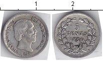 Изображение Мелочь Нидерланды 5 центов 1850 Серебро XF