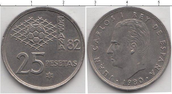 Картинка Мелочь Испания 25 песет Медно-никель 1980