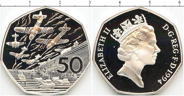 Картинка Подарочные монеты Великобритания День-Д Серебро 1994