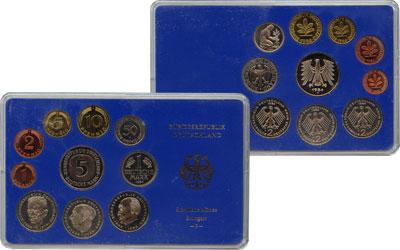 Изображение Подарочные монеты ФРГ Монеты 1976 (чеканка Штуттгарт) 1976  UNC В наборе 10 монет 19