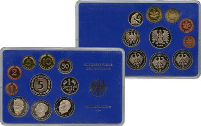 Изображение Подарочные монеты Германия ФРГ Монеты 1984 (чеканка Карлсруэ) 1984  UNC