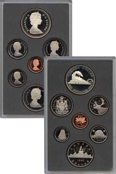 Изображение Подарочные монеты Канада Ванкувер 1986 1986  Proof