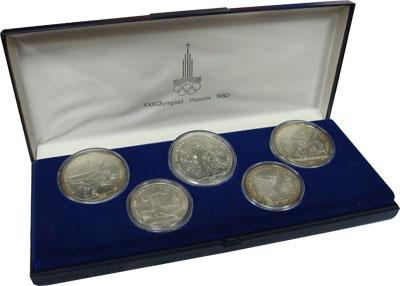 Изображение Подарочные наборы СССР Олимпийские игры 1980 1979 Серебро UNC- `Подарочный набор по