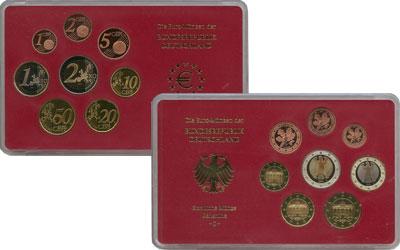 Изображение Подарочные монеты Германия Монеты 2004 (чеканка Штуттгарт) 2004  Proof В наборе 8 монет ном