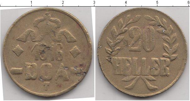 Картинка Монеты Немецкая Африка 20 геллеров Медь 1916