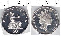 Изображение Мелочь Великобритания 50 пенсов 1997 Серебро Proof- Елизавета II
