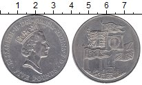 Изображение Мелочь Великобритания 5 фунтов 1996 Медно-никель XF 70 лет со дня рожден