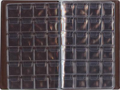 Картинка Аксессуары для монет Альбомы карманные Альбом на 240 монеты вертикальный ( с клапанами)  0