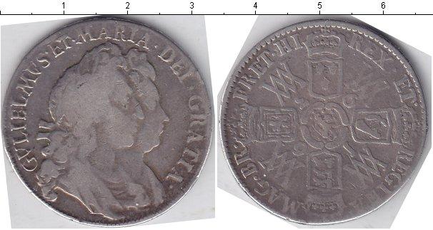 Картинка Монеты Великобритания 1/2 кроны Серебро 1693