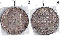 Изображение Монеты Великобритания 6 пенсов 1910 Серебро XF Эдвард VII
