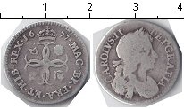Изображение Монеты Великобритания 4 пенса 1677 Серебро VF Чарльз II
