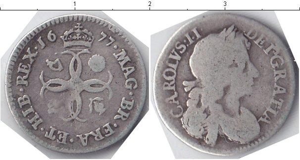 Картинка Монеты Великобритания 4 пенса Серебро 1677
