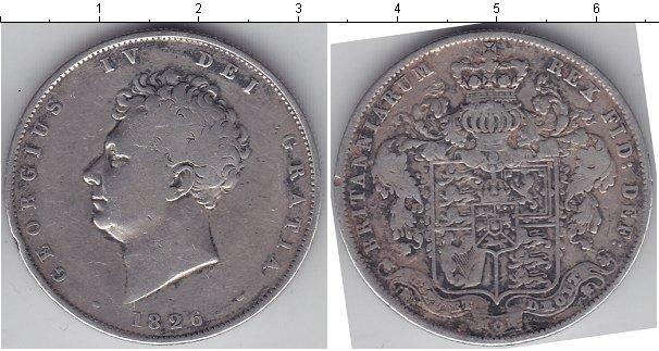 Картинка Монеты Великобритания 1/2 кроны Серебро 1826