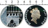 Изображение Монеты Фиджи 10 долларов 2002 Серебро Proof Золотой юбилей