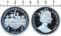 Изображение Монеты Гибралтар 1 крона 2000 Серебро Proof Жизнь Королевы Елиза