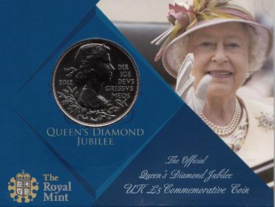 Изображение Подарочные монеты Великобритания Бриллиантовый юбилей 2012 Медно-никель UNC- Подарочная монета по