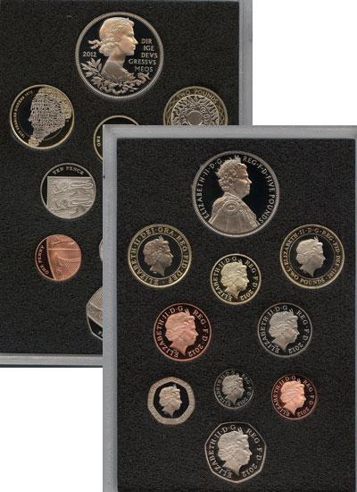 Изображение Подарочные наборы Великобритания Новые гербы 2012 2012  Proof Набор посвящён новом