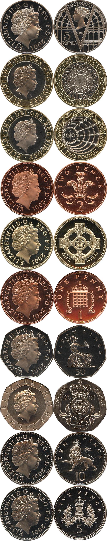 Картинка Подарочные наборы Великобритания Набор 2001 года  2001