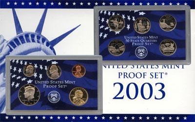Изображение Подарочные наборы США Пруф-сет 2003 года 2003 Медно-никель Proof Подарочный набор пру