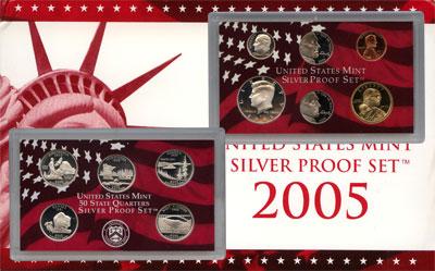 Изображение Подарочные монеты США Пруф-сет 2005 года 2005  Proof Подарочный набор пру