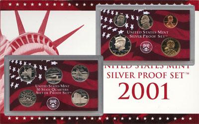 Изображение Подарочные монеты США Пруф-сет 2001 года 2001  Proof Подарочный набор пру
