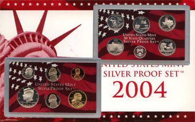 Изображение Подарочные монеты США Пруф-сет 2004 года 2004  Proof