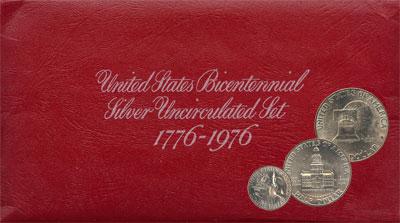 Изображение Подарочные монеты США Выпуск 1976 года 1976 Серебро UNC Выпуск 1976 года. В