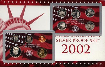 Изображение Подарочные монеты США Пруф-сет 2002 года 2002  Proof