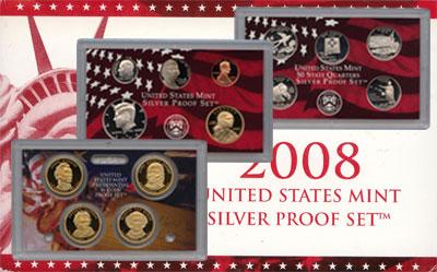 Изображение Подарочные монеты США Пруф-сет 2008 года 2008  Proof Подарочный набор пру