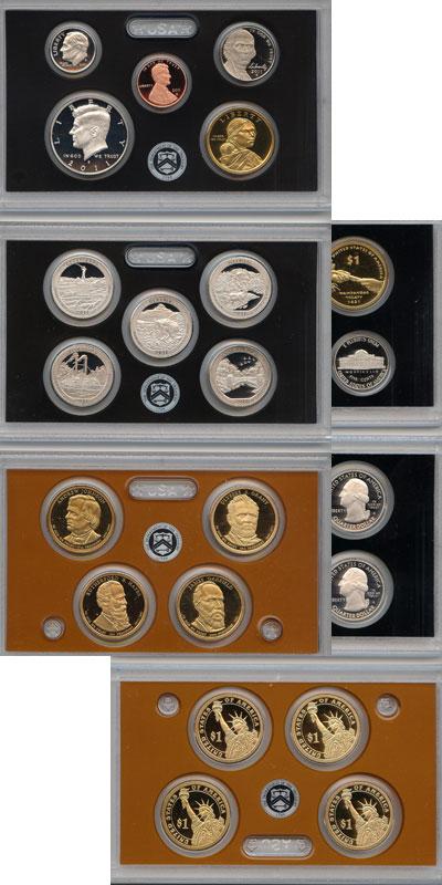 Изображение Подарочные монеты США Пруф-сет 2011 года 2011  Proof Подарочный набор пру