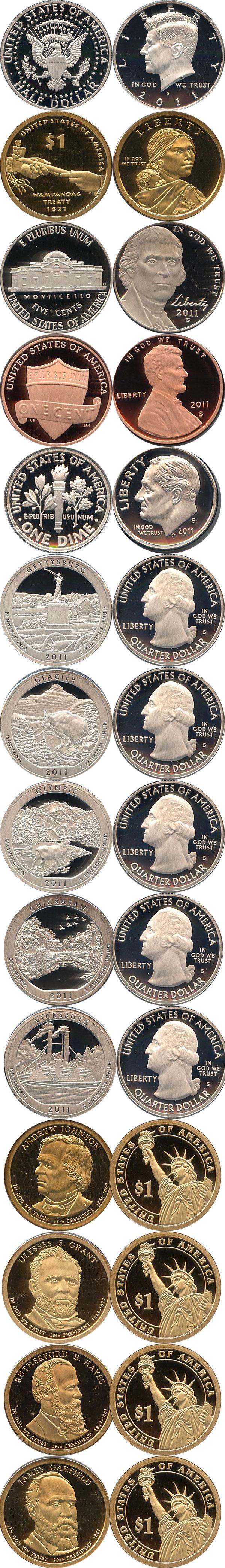 Картинка Подарочные наборы США Пруф-сет 2011 года  2011