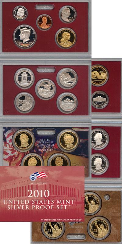 Изображение Подарочные наборы США Пруф-сет 2010 года 2010  Proof Подарочный набор пру