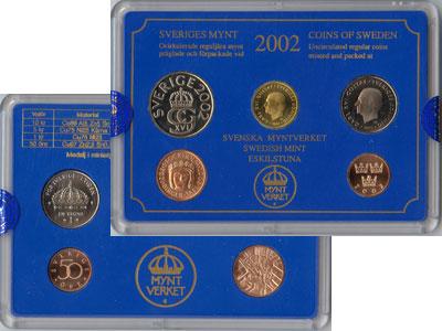 Изображение Подарочные монеты Швеция Набор монет 2002 года 2002  UNC Набор посвящён монет