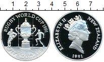 Изображение Монеты Новая Зеландия 5 долларов 1991 Серебро Proof- Елизавета II Кубок р