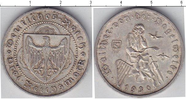 Картинка Монеты Веймарская республика 3 марки Серебро 1930