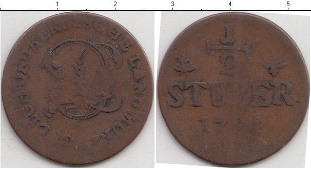 Картинка Монеты Юлих-Берг 1/2 стюбера Медь 1794