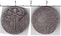 Изображение Монеты Ватикан 1 гроссо 0 Серебро  18 век