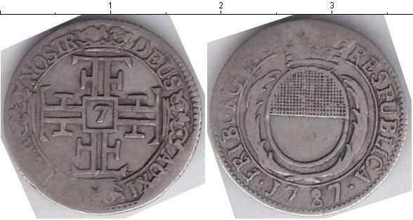 Картинка Монеты Швейцария 7 крейцеров Серебро 1787