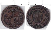 Изображение Монеты Швейцария 1 рапп 1797 Медь  Кантон Швиц