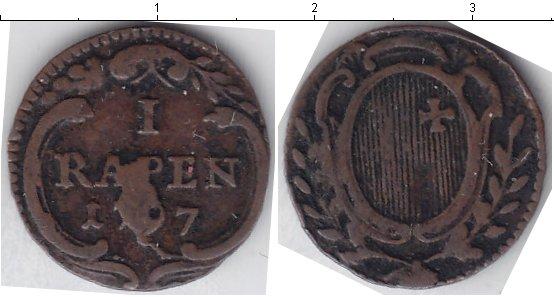 Картинка Монеты Швейцария 1 рапп Медь 1797
