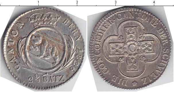 Картинка Монеты Берн 2 1/2 батцена Серебро 1826